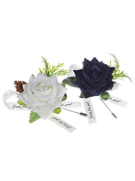 Image of Fiori Per Matrimonio graziosi Poly / misto cotone da sposa Accessori Spille