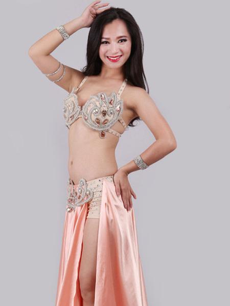 Milanoo Belly Dance Costume Bra Skirt Set Women Dancing Wear