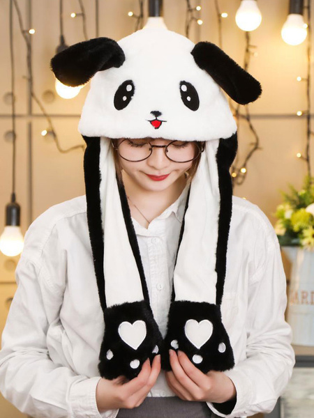 Milanoo Halloween Hat Pandda Moving Hat Rabbit Ear Cosplay Costume Accessories
