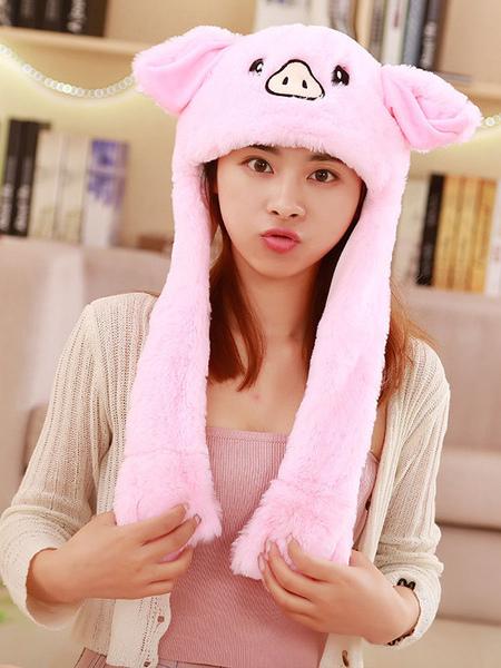 Milanoo Halloween Hat Pig Moving Hat Rabbit Ear Cosplay Costume Accessories