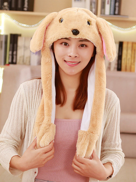 Milanoo Halloween Hat Brown Dog Moving Hat Rabbit Ear Cosplay Costume Accessories