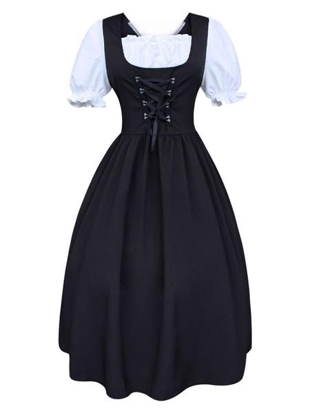 Milanoo Retro Costumes Women's Vintage Dress 18th Century Costume Cosplay Halloween