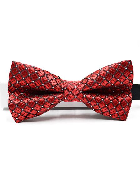 Milanoo Men Bow Tie Dress Tie Red Cosplay Costume Halloween Accessories