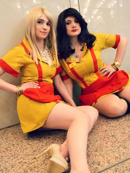 Image of Carnevale 2 Broke Girls Waitress Grembiule Dress Cosplay Costume Halloween