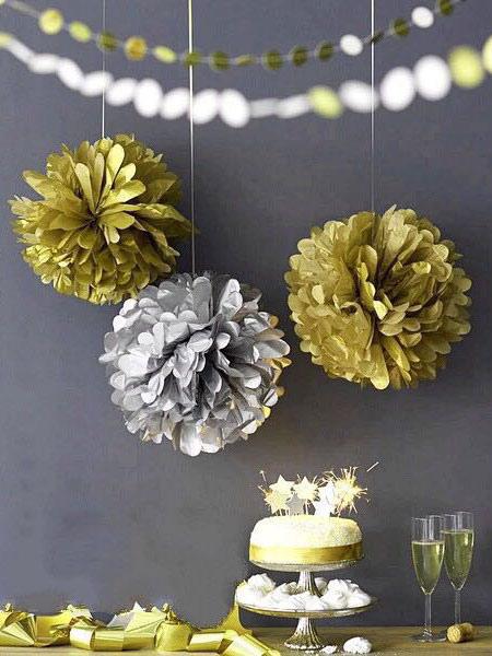 Image of Fiore rosso sfera matrimonio fiore decorazione carta palla 5 pezzo