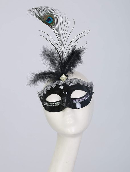 Clothing & Accessories|Costumes 10Pcs/Set Carnival Mask Synthetic Peacock Feather Masquerade Costume Accessories