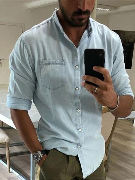 Chemise dcontractes col rabattu Chemises classiques - Milanoo FR - Modalova