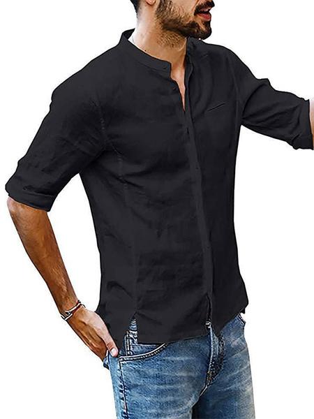 Chemise dcontracte col bijou Chemises noiress - Milanoo FR - Modalova