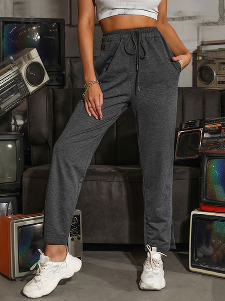 Pantalon droit Pantalon taille haute en coton - Milanoo FR - Modalova