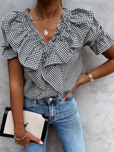 Blouse;chemise ;blouse ;tunique ;chemise blanche ;chemise oversize - Milanoo FR - Modalova