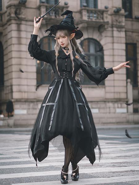 Gothic Lolita OP Dress 4-Pi...