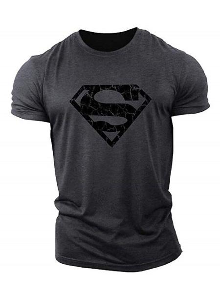 Grey Printed Short Sleeve C...