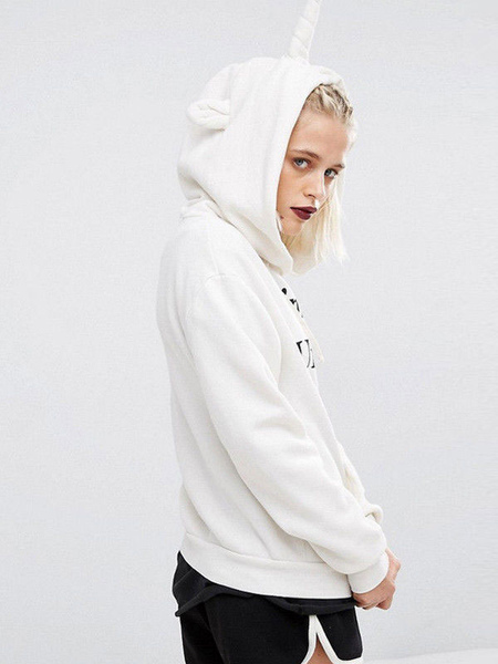 Hoodie For Women White Long...