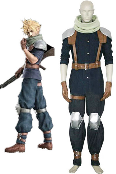 Final Fantasy VII Crisis Core Cloud Strife Cosplay Costume фото
