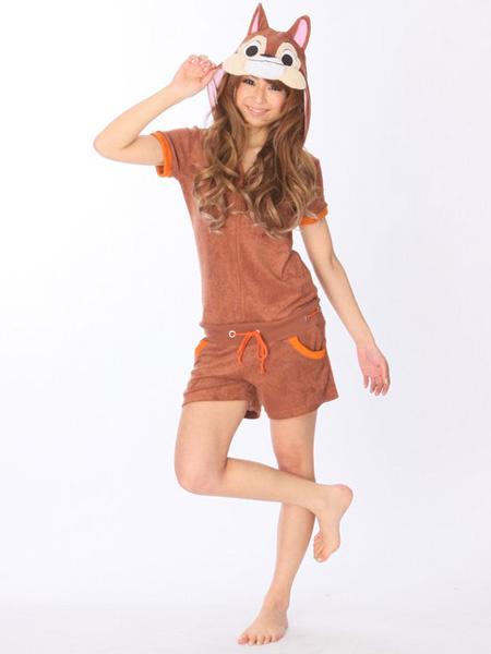 Kigurumi Pajamas Squirrel Onesie For Adult Cotton Costume фото