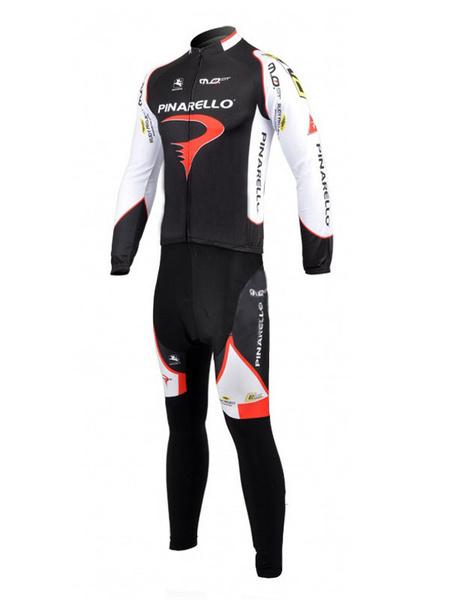 Черный цвет Сплит лайкра спандекс Велоспорт костюмы стоять воротник мужской