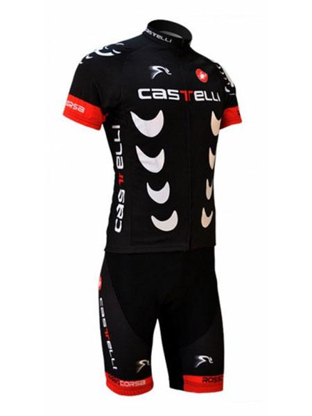 Черные буквы печать Велоспорт костюмы лайкра спандекс мужской