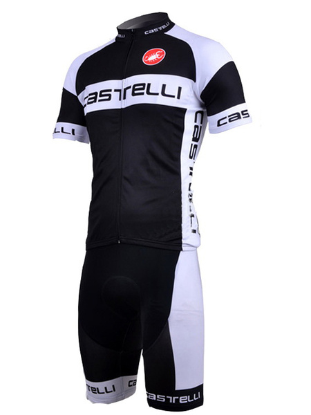Black Patchwork Breathable Lycra Spandex Man's Cycling Suits