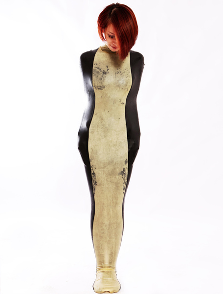 Sleeveless Women's Latex Catsuit Halloween Mummy Costume Cosplay фото