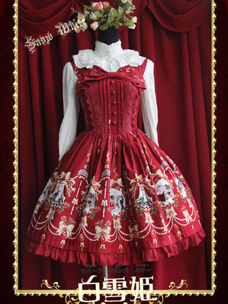 Classical Embroidered Cotton Lolita Dress фото