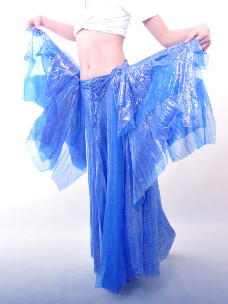 Charming Blue Attractive Belly Dance Long Skirt фото
