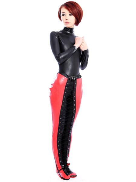 Halloween Unique Red Latex Unisex Trendy Latex Corset фото