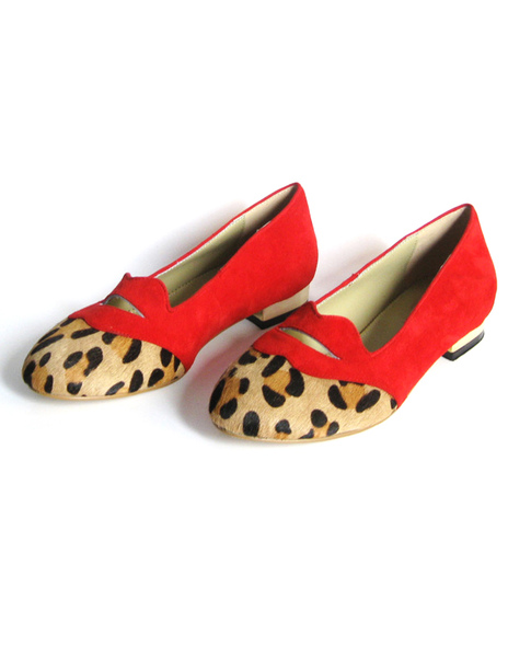 Sweet Suede Leather Leopard Print Cozy Ballet Flats фото