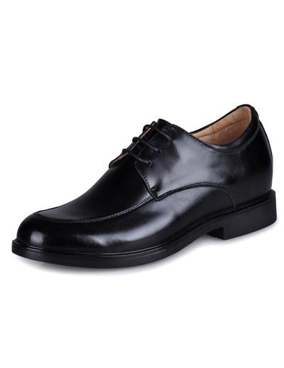 Формальные черный раунд Toe воловьей кожи мужская обувь лифт
