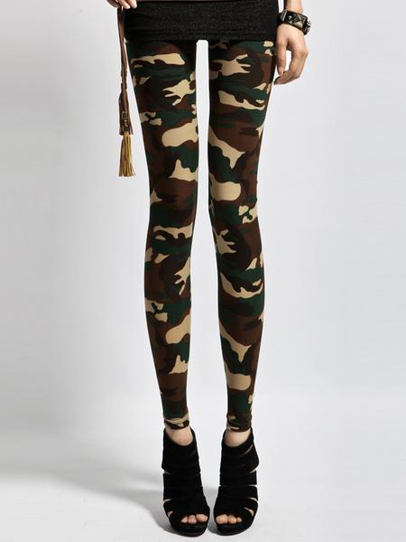Camouflage Lycra Leggings фото