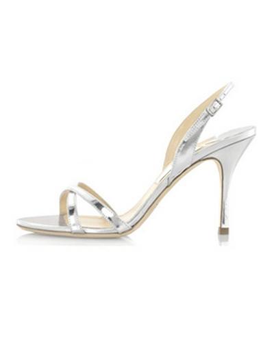PU Leather Stiletto Heel Bridal Sandals фото
