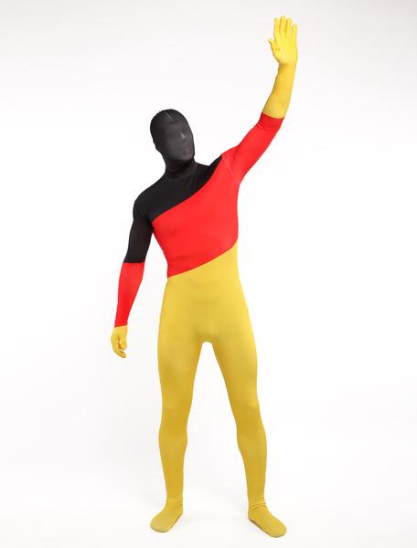 Halloween Unisex German Flag Lycra Spandex Cool Multicolor Zentai Suits фото