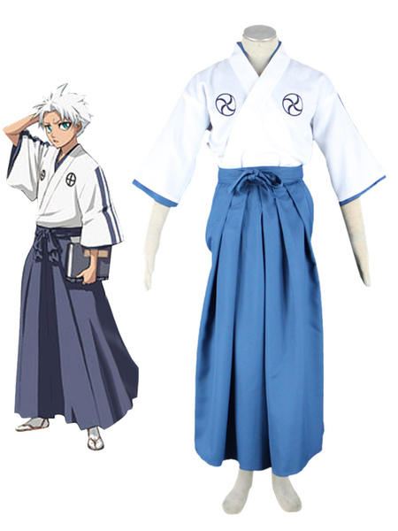 Bleach Hitsugaya Toushirou Halloween Cosplay Costume School Uniform