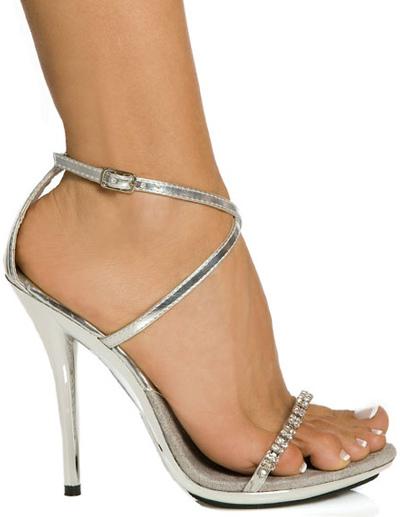Rhinestones Cross Straps Sandals Patent PU Heels фото