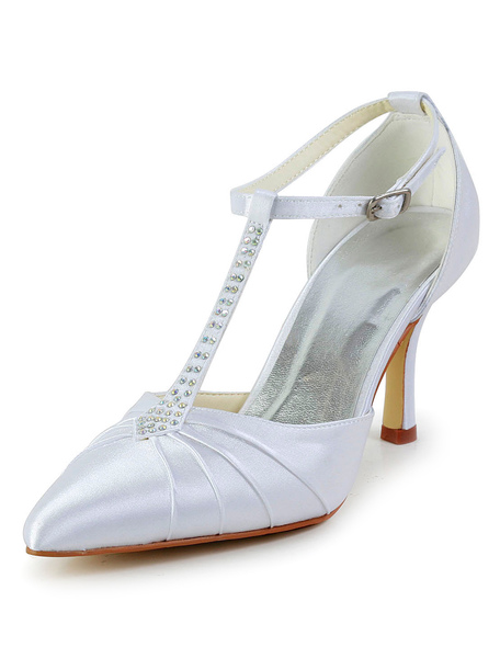 Pointed Toe Silk And Satin Evening and Bridal Sandals фото