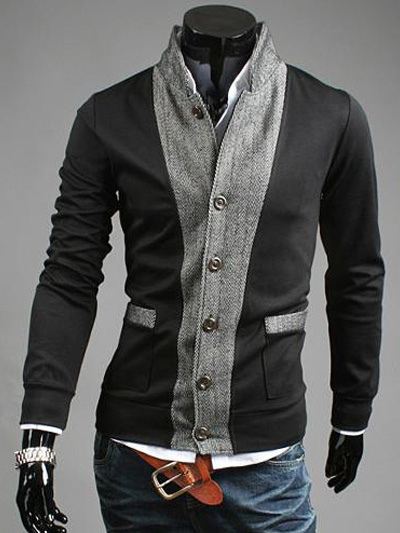 Two-Tone Jacket With Front Button фото