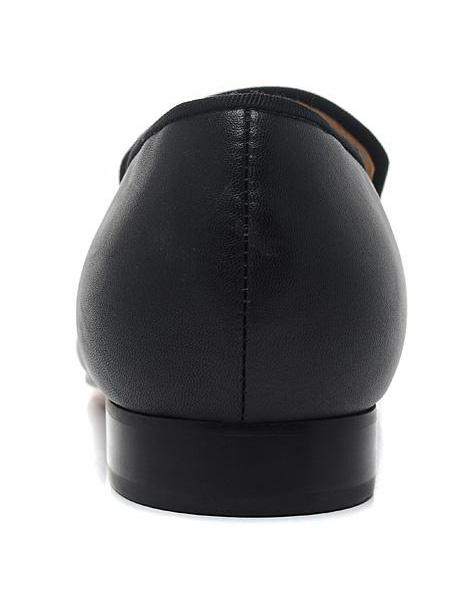 Milanoo / Zapatos loafers de cuero negro con tachuelas