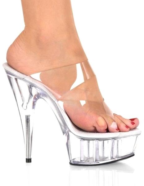 Milanoo / Zapatillas transparentes de PVC de estilo sexy