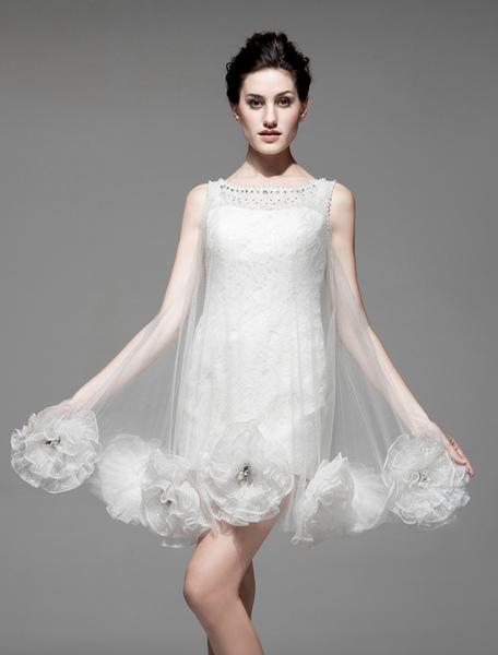 Flower Bridal Wedding Gown фото