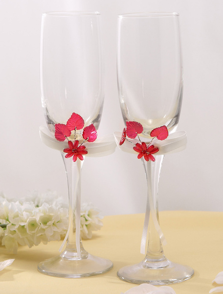 Classic Lead-Free Glass Wedding Toasting Flutes