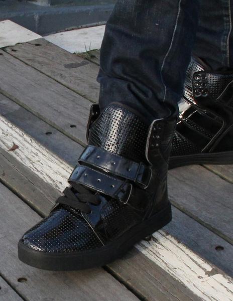 Milanoo / Zapatos de PU negro con ojal metal