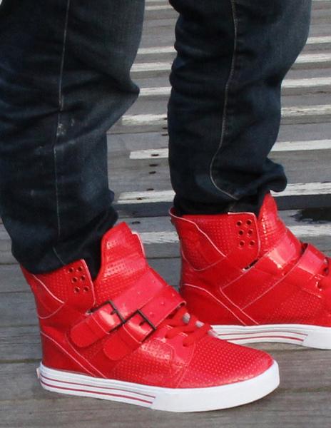 Milanoo / Zapatos de PU rojo con ojal metal