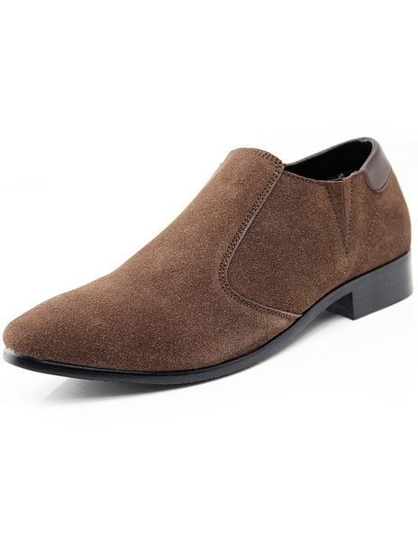 Прохладный коричневый круглый носок замши Повседневная обувь для мужчин