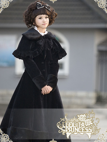 Glamorous Black Ruffles Bow Lolita Dress фото