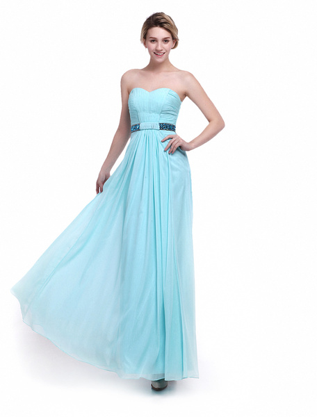 Mint Green Bridesmaid Dress Sweetheart Ruched Chiffon A Line Floor Length Wedding Party Dress Milano