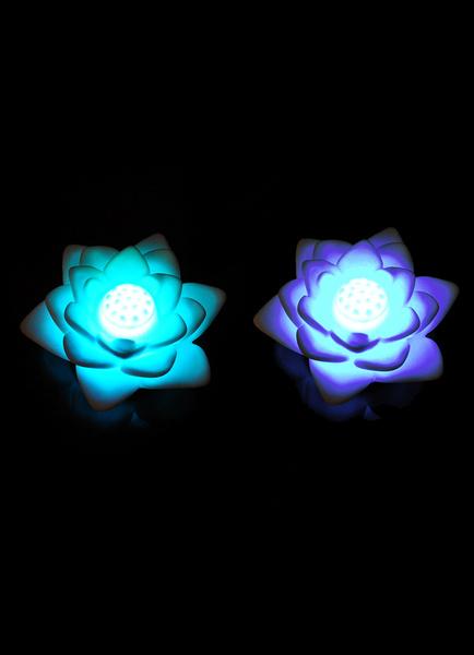 Lotus Pattern PVC Wedding LED Lights Set of 4 фото