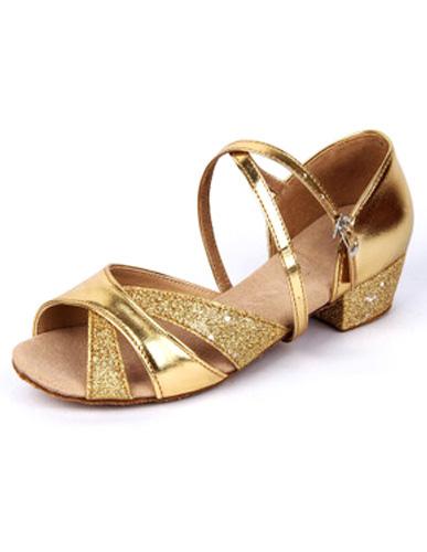 Peep Toe Criss-Cross Signed Cloth Stylish Latin Shoes фото