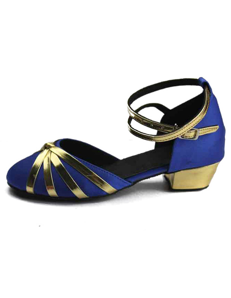 Professional Criss-Cross Round Toe Silk And Satin Latin Dance Shoes