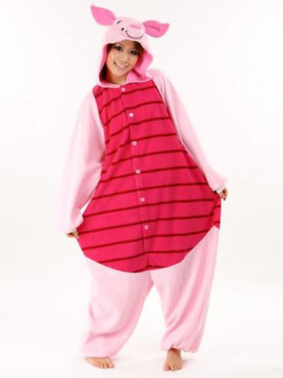 Kigurumi Pajama Piglet Onesie For Adult fleece Flannel Anime Cosplay Costume фото