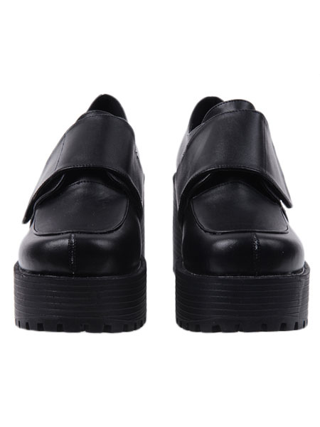 Gothic Black Lolita Heels Shoes Square Heels Platform Shoes фото