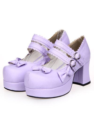 Dandy Round Toe PU Leather Street Wear Lolita Shoes фото